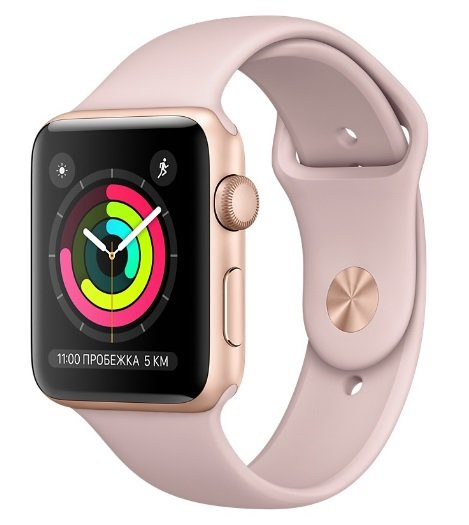 Часы Apple Watch Series 3 42mm Aluminum Case with Sport Band Rose Gold