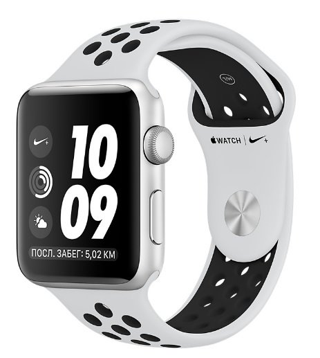 Часы Apple Watch Series 3 38mm Aluminum Case with Nike Sport Band Silver